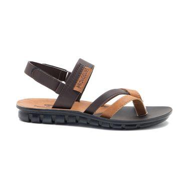 Provogue Mens Floater Sandals Pv1109-Cafe & Tan