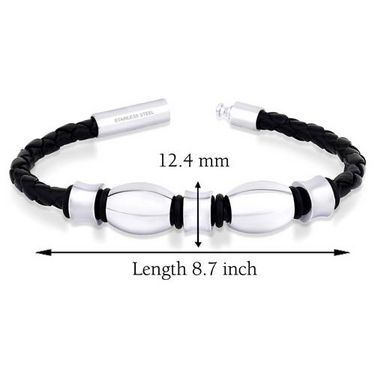 Peora 316L Beads & Leather Bracelet