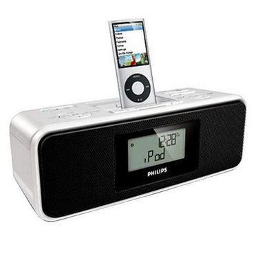 buy philips dc200 portable docking system digital tuner charger alarm clock usb direct bass. Black Bedroom Furniture Sets. Home Design Ideas