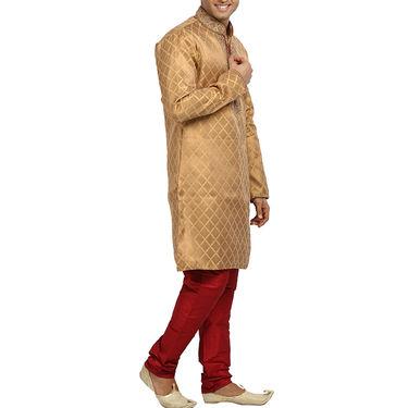 Runako Silk Full Sleeves Kurta Pyjama_RK4051 - Golden
