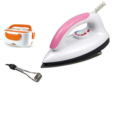 Combo Of Detak Electric Lunch Box With Dry Iron