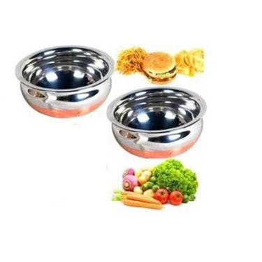 Combo Of Detak 15 Pcs Flower Pudding Set & 2 Pcs Copper Based Handi Set