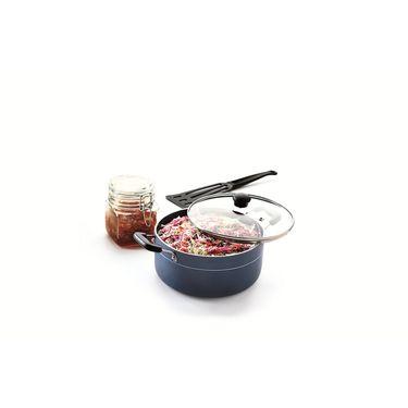 RECON MasterChef Non Stick Casserole with Glass Lid 190mm (2.2ltr)_RMGCR190