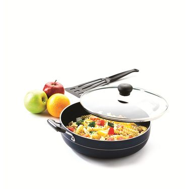 RECON MasterChef Non Stick Multi Pan with Glass Lid 255mm (3.25ltr)_RMGMP255
