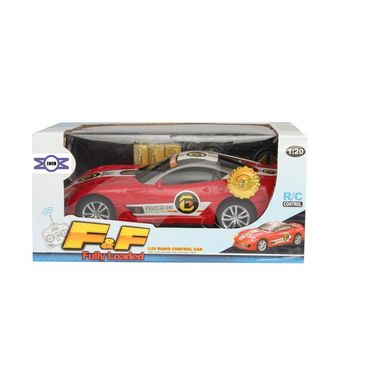 Fully Loaded 1:20 Rechargeable Remote Control Sports Car Toy - Red