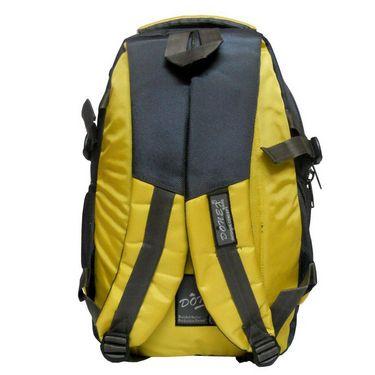Donex Nylon Laptop Backpack RSC443 -Yellow & Grey