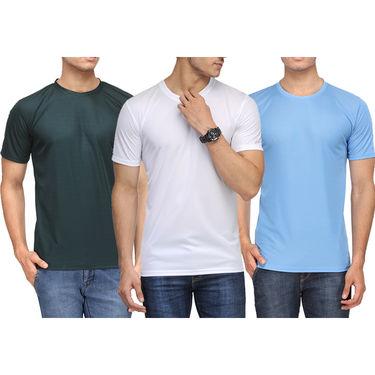 Pack of 3 Rico Sordi Half Sleeves Plain Tshirts_RSD752