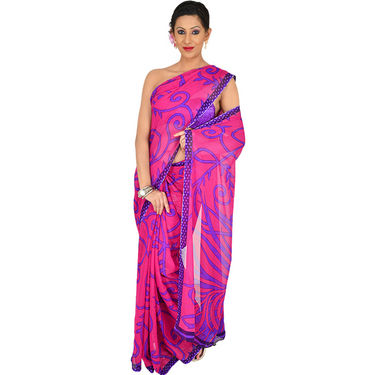 7 Rich Look Designer Collection Georgette Sarees (7G123) - AKSO