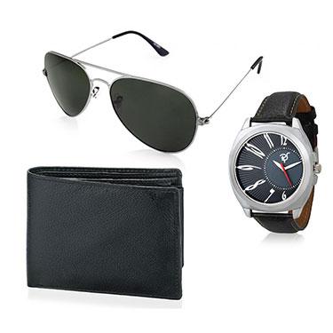 Combo of Rico Sordi Analog Wrist Watch + Sunglasses + Wallet_12398218