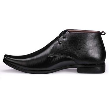 Branded Synthetic Leather Formal  Shoes Scomf300 -Black