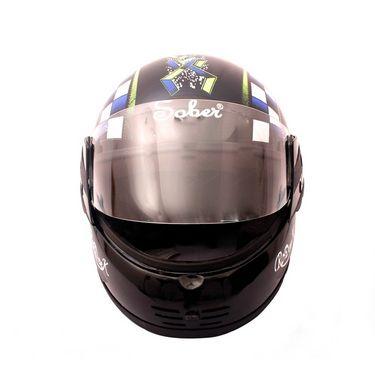 Autofurnish (SR-102) Sober Rodick Checkmate Multi Graphics Full Face Helmet (Black)-SR-102