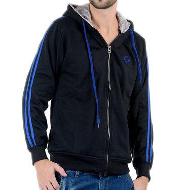 Blended Cotton Full Sleeves Sweatshirt_Swdl18 - Black & Blue