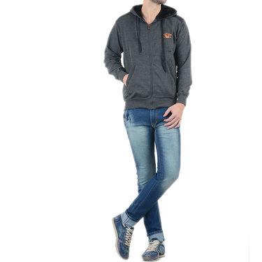 Blended Cotton Full Sleeves Sweatshirt_Swdl27 - Black & Grey