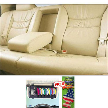 Samsun Car Seat Cover for Mitsubishi Pajero Sport - Beige