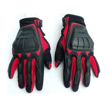 Scoyo Heavy Full Finger Bike Riding Gloves - Black & Red