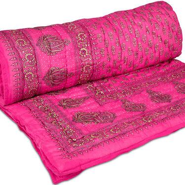 Set of 2 Jaipuri Cotton Razai with Gold Prints