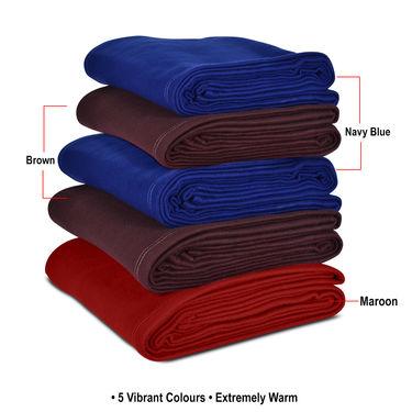 Set of 5 Fleece Blankets