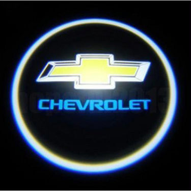 Set of 2 pcs Branded Car Door Welcome Light LED Projection Ghost Shadow Light Laser Chevrolet Logo