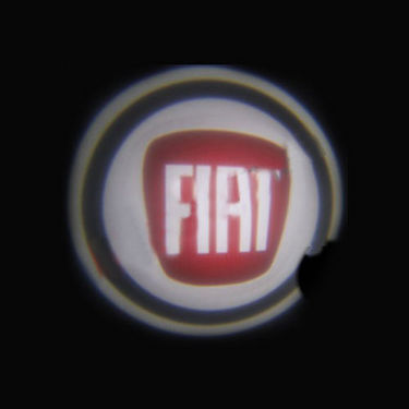 Set of 2 pcs Branded Car Door Welcome Light LED Projection Ghost Shadow Light Laser Fiat Logo