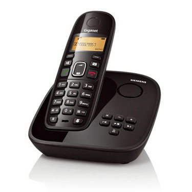 Gigaset A 495 Cordless Phone with Answering Machine - Black