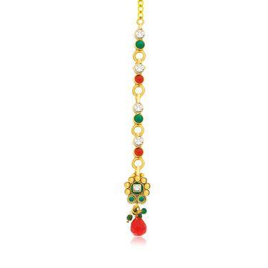 Spargz Drop Designer Necklace Set - Multicolour _ AINS080