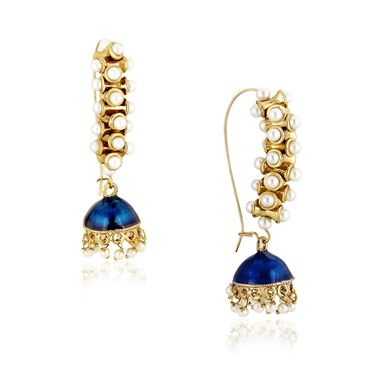 Spargz Ethnic Pearl Earrings - White _AIER408