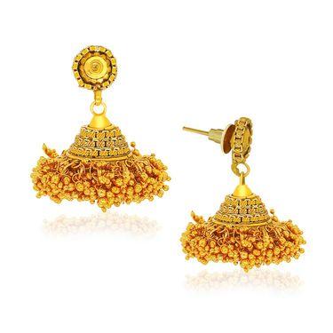 Spargz Golden Ball Necklace Set - Gold _ AINS086