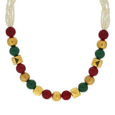 Spargz Beaded Necklace Set Mala - Multicolor _ MALA013