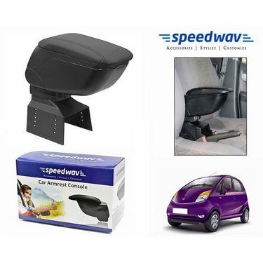 Speedwav Car Armrest Console Black Color- Tata Nano