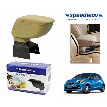 Speedwav Car Armrest Console Beige Color- Honda Brio