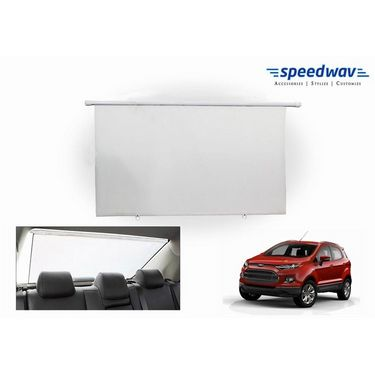 Speedwav Car Rear Window Roller Sunshade 90cm WHITE- Ford Ecosport