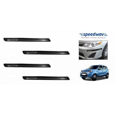 Speedwav Black and Chrome Bumper Scratch Protector-Maruti New Alto 800