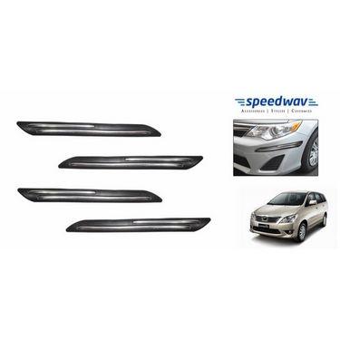 Speedwav Car Black Twin Chrome Bumper Scratch Protector-Toyota Innova New