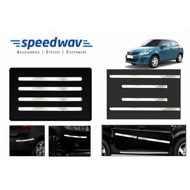 Speedwav Full Chrome Bumper Protector+Side beading-Maruti Swift Dzire New