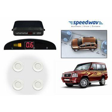 Speedwav Reverse Car Parking Sensor LED Display WHITE - Tata Sumo Old