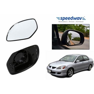 Speedwav Car Rear View Side Mirror Glass RIGHT-Mitsubishi Lancer Cedia