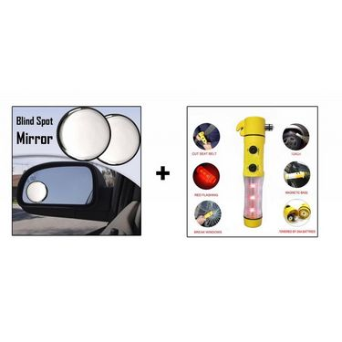 Combo of Speedwav 5 in 1 Hammer & Blind Spot Mirror