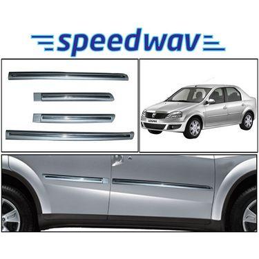 Speedwav Side Beading Chrome Plated SILVER - Mahindra Logan
