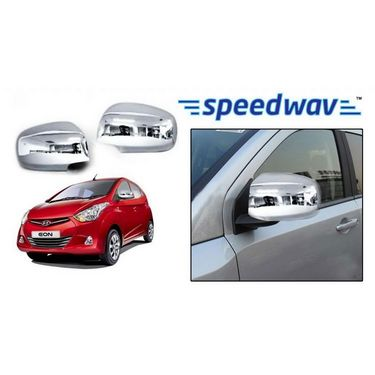 Speedwav Hyundai Eon LX Chrome Mirror Covers Set of 2