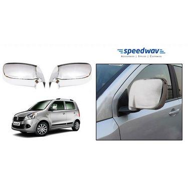 Speedwav Maruit Suzuki Wagon R 3rd Gen Chrome Mirror Covers Set of 2