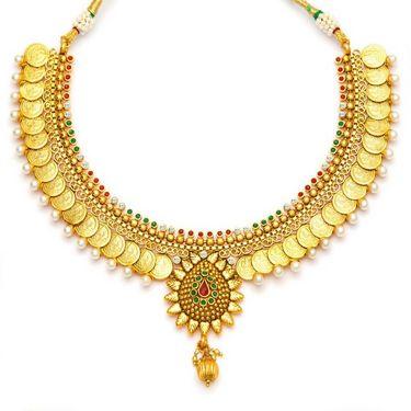 Sukkhi Eye-Catchy & Butterfly Gold Plated Necklace Set - Golden - 2115NGLDPV2000