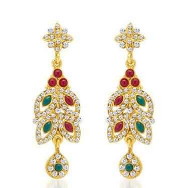 Sukkhi Delightly Gold Plated Necklace Set - Golden - 2132NADV2600