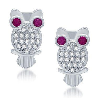 Sukkhi Exquitely Rhodium Plated Earrings - White - 211EARSDPVTS500