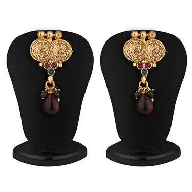 Sukkhi Royal Gold Plated Multicolored Goddess Laxmi Necklace Set