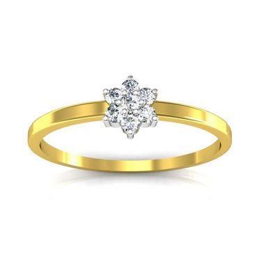 Avsar Real Gold & Swarovski Stone Kolkatta Ring_T038yb
