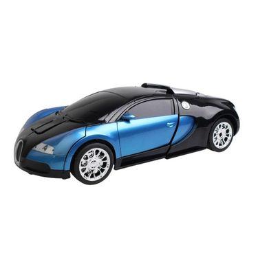 2 in1 Remote Control Robot cum Buggati Toy Car - Blue