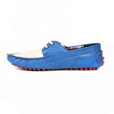Ten Leather Blue Loafers -ts180