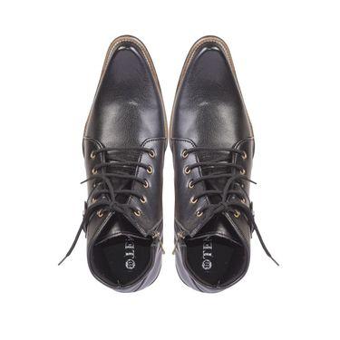 Faux Leather Black Boots -T11