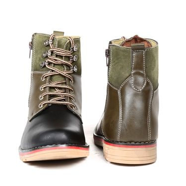 Faux Leather Olive Boots -T20