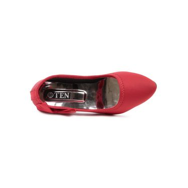 Ten Canvas Red Pumps -ts253